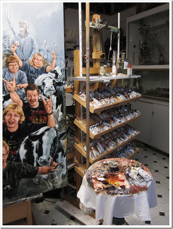 Jens Rusch - Im Atelier - So malt er
